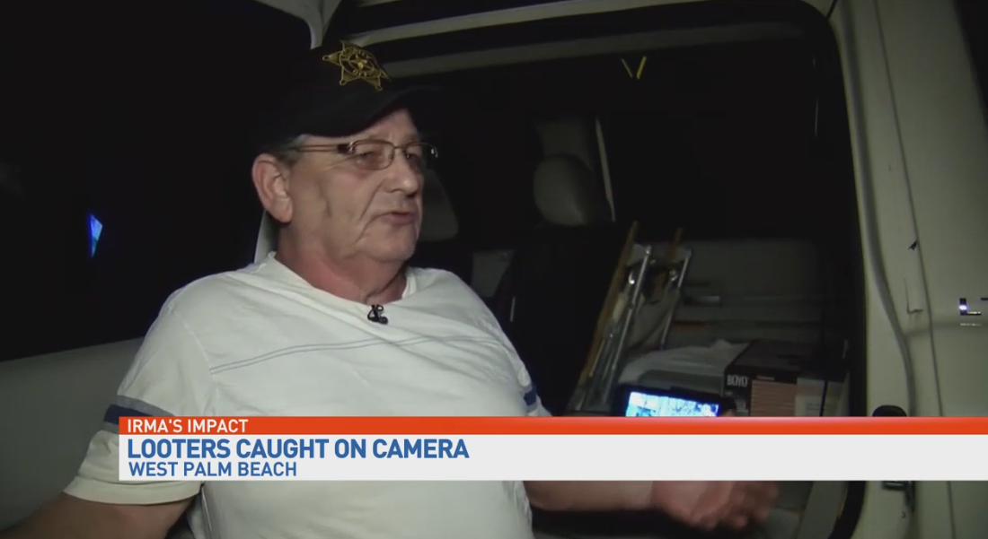 A Delray Beach, Florida man says he saw people looting a store after Hurricane Irma. (WPEC)