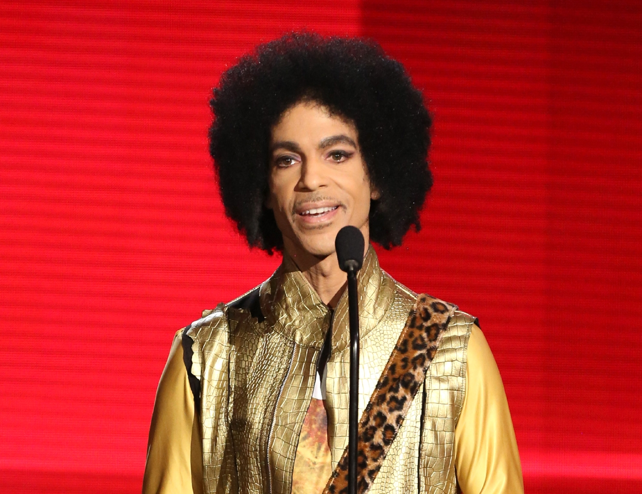 FILE - In this Nov. 22, 2015 file photo, Prince presents the award for favorite album - soul/R&B at the American Music Awards in Los Angeles. A famous bassist and longtime friend of pop megastar Prince says the artist found Â?real happinessÂ? in his faith and could stay up all night talking about the Bible. Larry Graham tells The Associated Press that Prince became a JehovahÂ?s Witness later in life and that it changed the starÂ?s music and lifestyle. (Photo by Matt Sayles/Invision/AP, File)