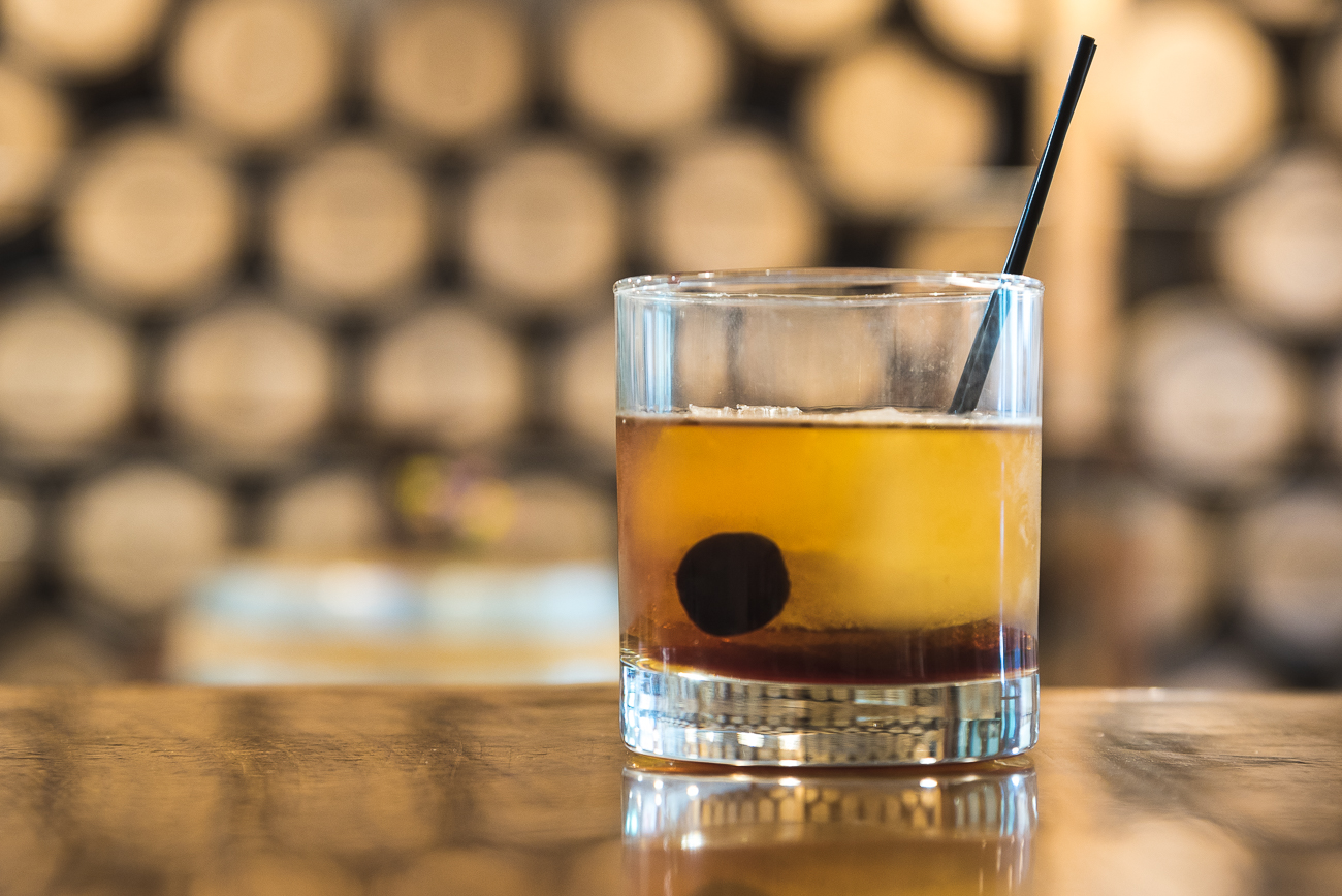 The Cuban: Vya vermouth, bitters, Luxardo cherry, and dark rum / Image: Phil Armstrong, Cincinnati Refined // Published: 7.16.17