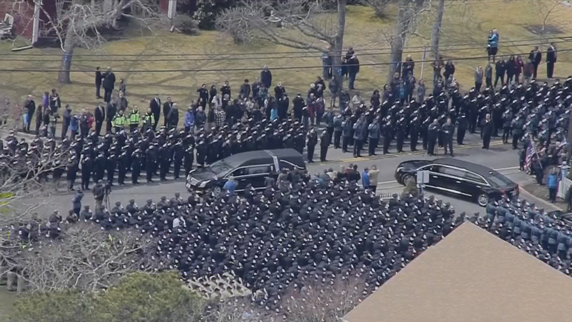 Thousands of officers salute sgt sean gannon one last - Does fire department fill swimming pools ...