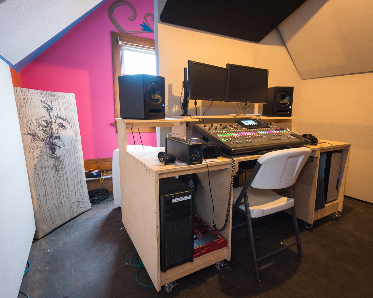The Mix Down Room is where raw audio recordings from the live music shows in the brewery's taproom are mixed down and mastered. Once editing is complete, the music is cataloged and archived for use on Radio Artifact airwaves. / Image: Phil Armstrong, Cincinnati Refined // Published: 1.15.18<p></p>