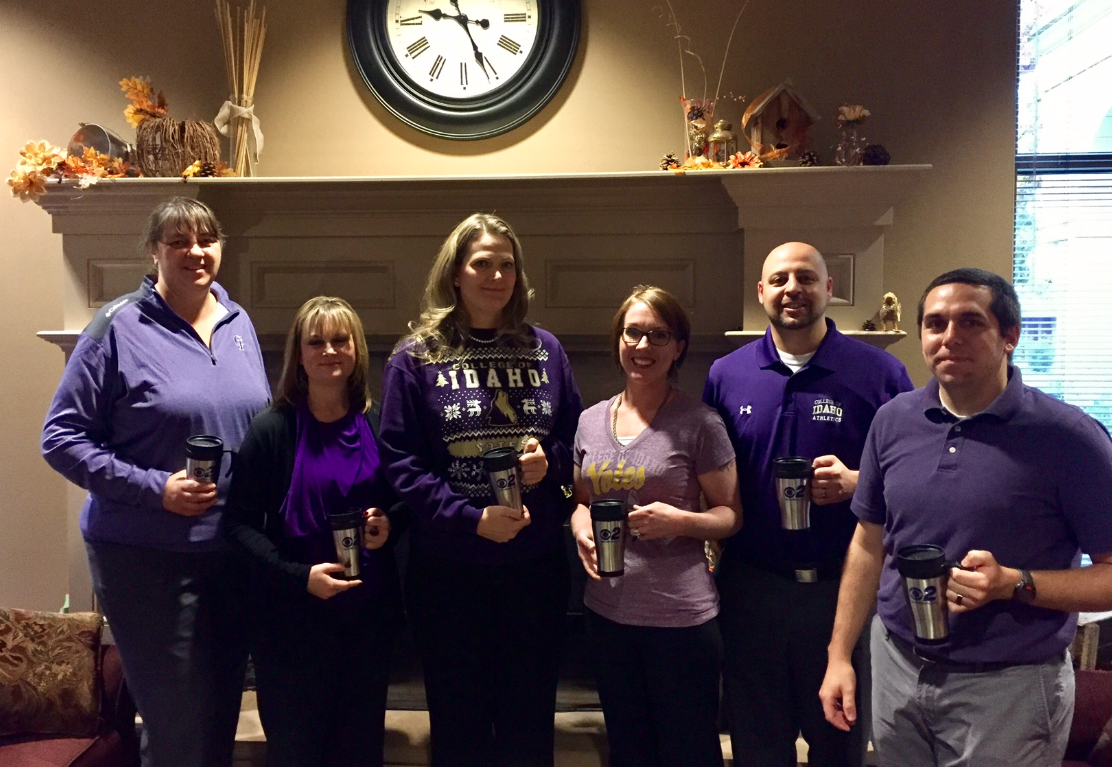 Mugshot Mondays: This week's winner is The College of Idaho in Caldwell! Kelsey Anderson helped deliver free Dutch Bros. Coffee of Boise Idaho and KBOI mugs!Want your business to be next? Enter: http://bit.ly/1UoKo3X