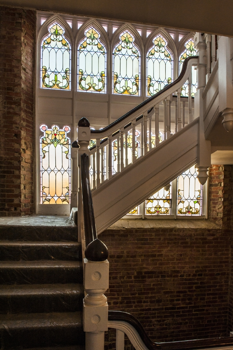 When the congregation of the Way of the Cross Church of Christ on Capitol Hill outgrew its 119-year-old church, The Rubin Group took a leap of faith and converted the building to a 30-unit condominium. Founder Andrew Rubin says he intentionally kept some of the church's elements intact, like the painstakingly restored stained glass windows. The project is slated to be completed next week, but most of the condos, which range from $300,000s to a $1.7 million penthouse, have been sold. (Image via Avis Mandel of Avis Mandel Pictures)