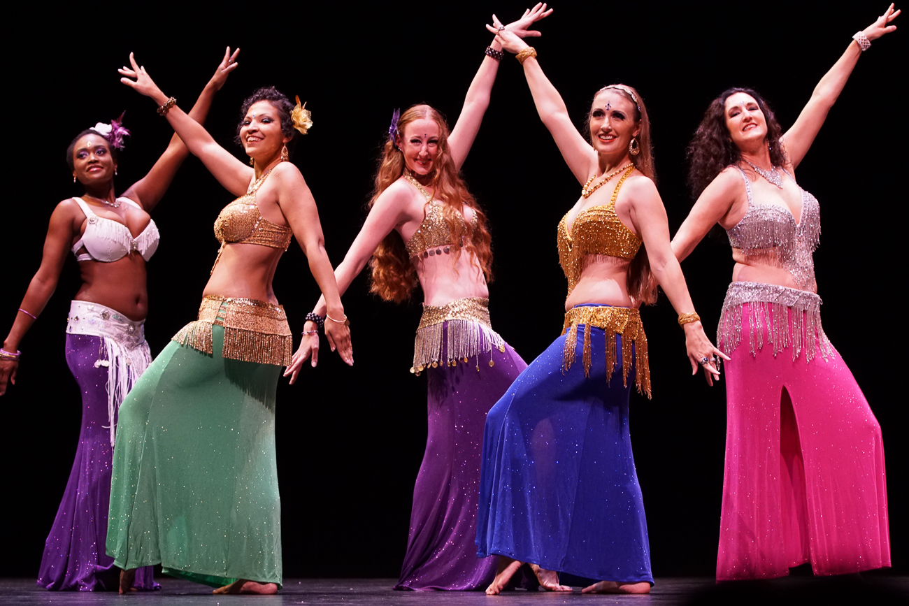 Dancers with the Anaya Belly Dance company / Image: Doug Moore // Published: 10.31.18