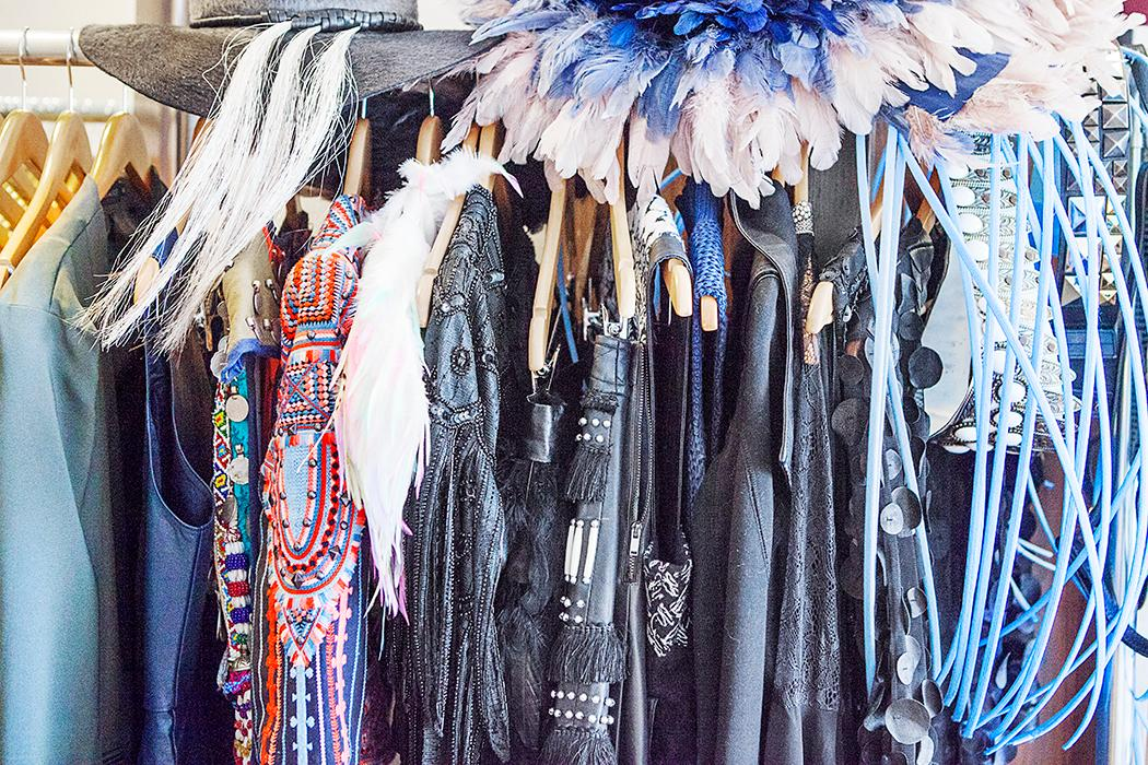 When two fashion bloggers head to NYFW, you can be assured of one thing: the closet will be overflowing! Ashley Hafstead of Chicville USA shows us a few of her own gorgeous ensembles and a few snaps from the shows. (Image: Courtesy Ashley Hafstead/Chicville USA)