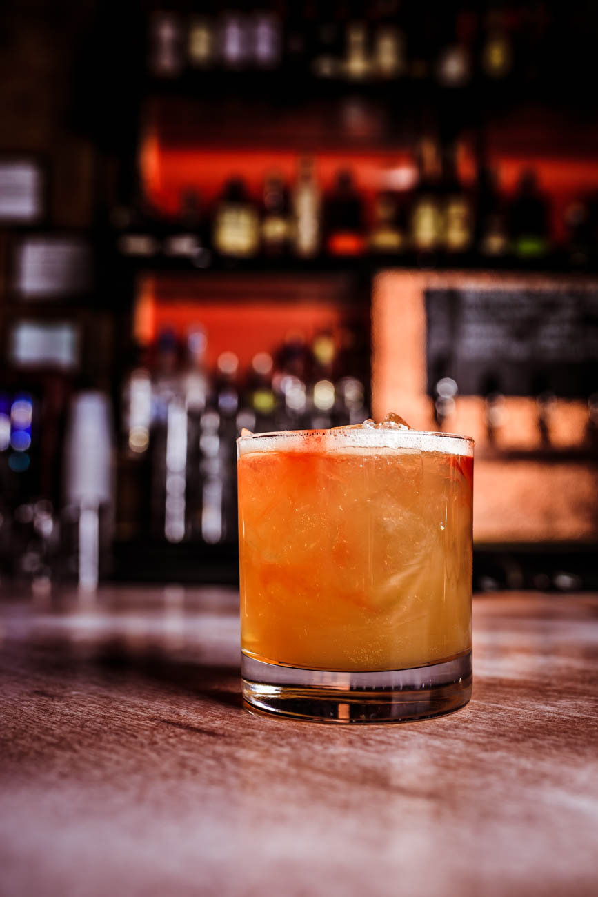The Three Dots and A Dash: Diplomatico Reserva rum, lime juice, pineapple juice, aromatic bitters, West Indies-style falernum, and honey / Image: Amy Elisabeth Spasoff // Published: 1.18.18