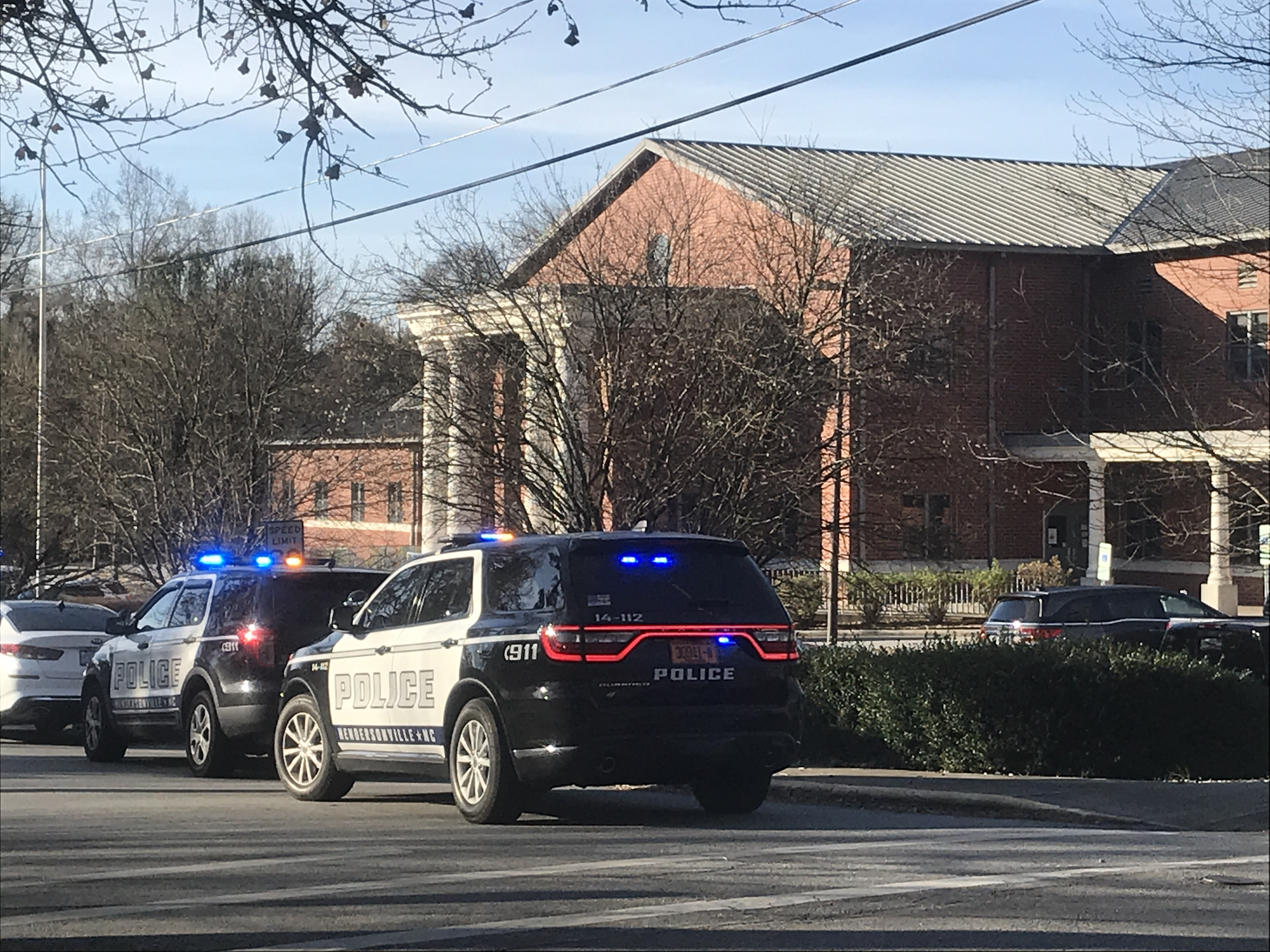 Nov. 24, 2020 - A 13-year-old male student was taken into custody at Hendersonville Middle School after allegedly shooting a 12-year-old female student early Tuesday morning.{ } (Photo credit: WLOS Staff)
