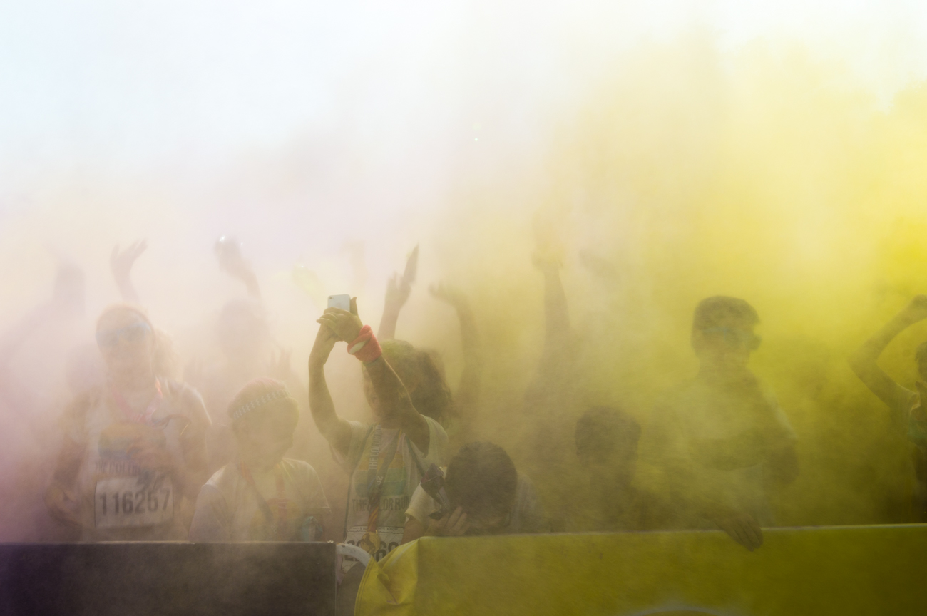 "The Cincinnati Color Run, known as the ""Happiest 5k on the Planet"" took place on Saturday, August 12 by the riverfront. / Image: Mike Menke // Published: 8.13.17"