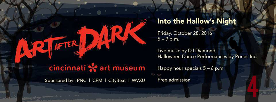 #4 - Art After Dark returns on Friday, Oct. 28 to the Cincinnati Art Museum.