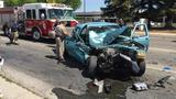 Multi-car crash on Cedar Ave. in Fresno