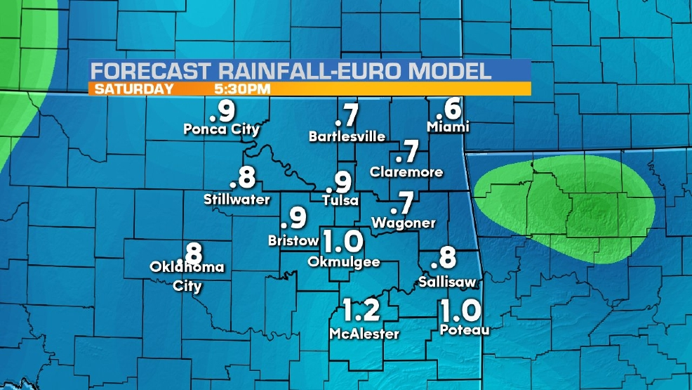 Rain returns Friday night into Saturday morning