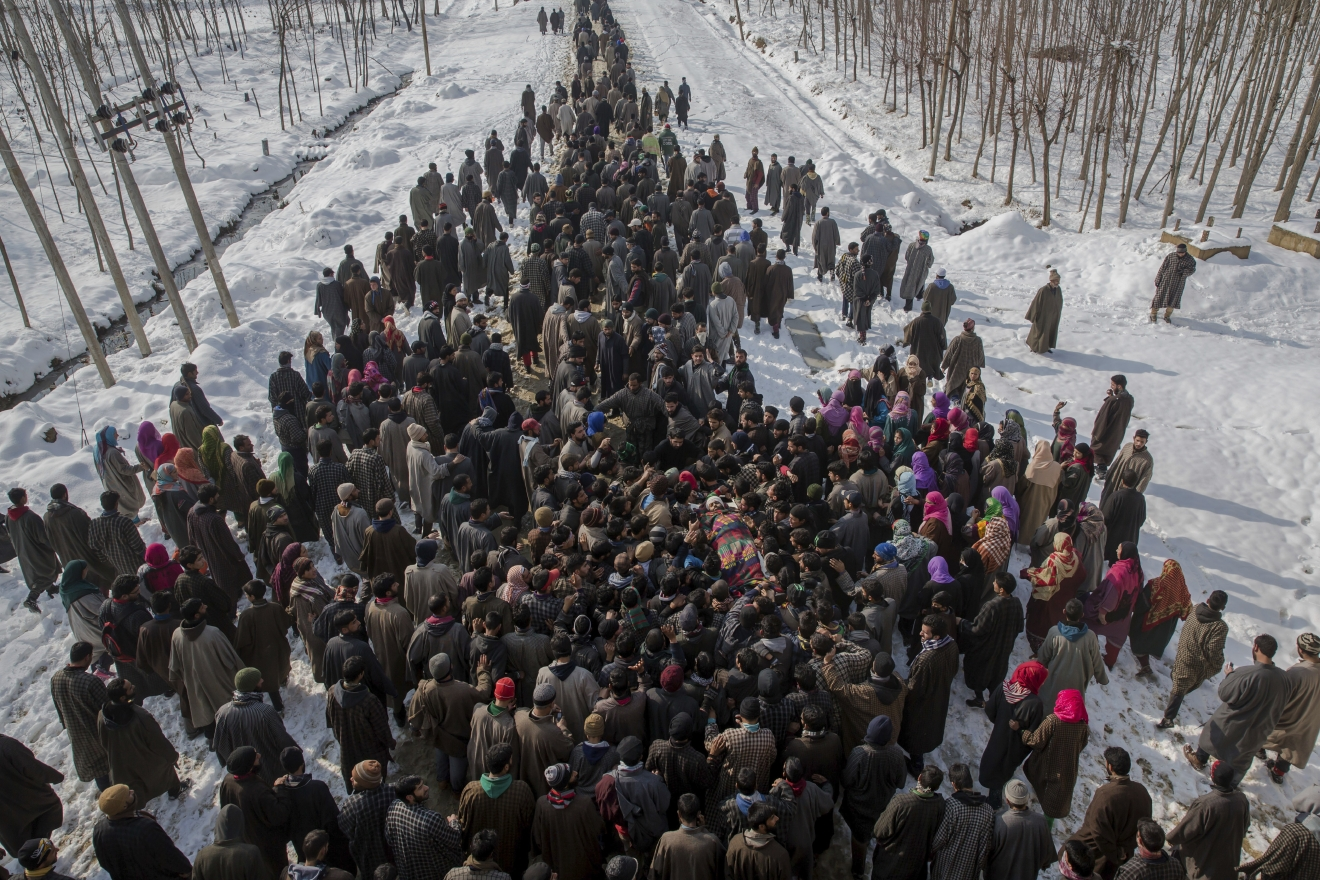 Rigopiano hotel avalanche first funerals as search goes on bbc news - Kashmiri Villagers Carry The Body Of Adil Reshi A Suspected Rebel During His Funeral Procession