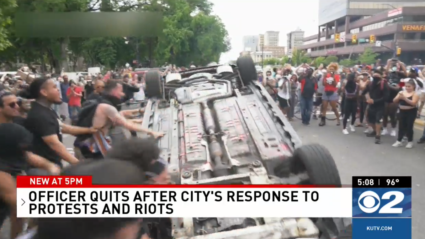 Salt Lake City cop injured in protests resigns, citing 'no support from leadership' (Photo: KUTV)