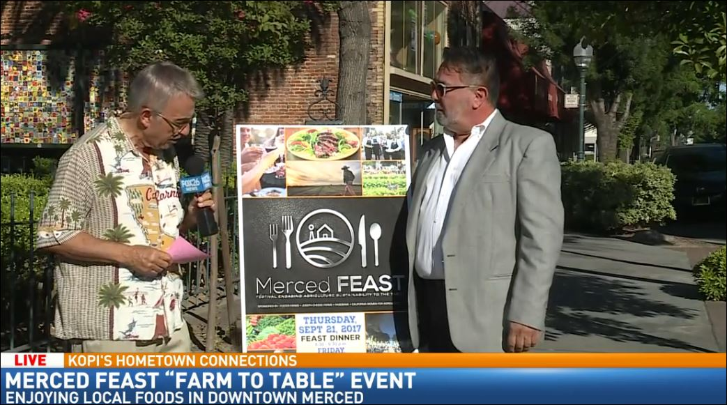 Kopi learns about Merced FEAST Farm to Table event