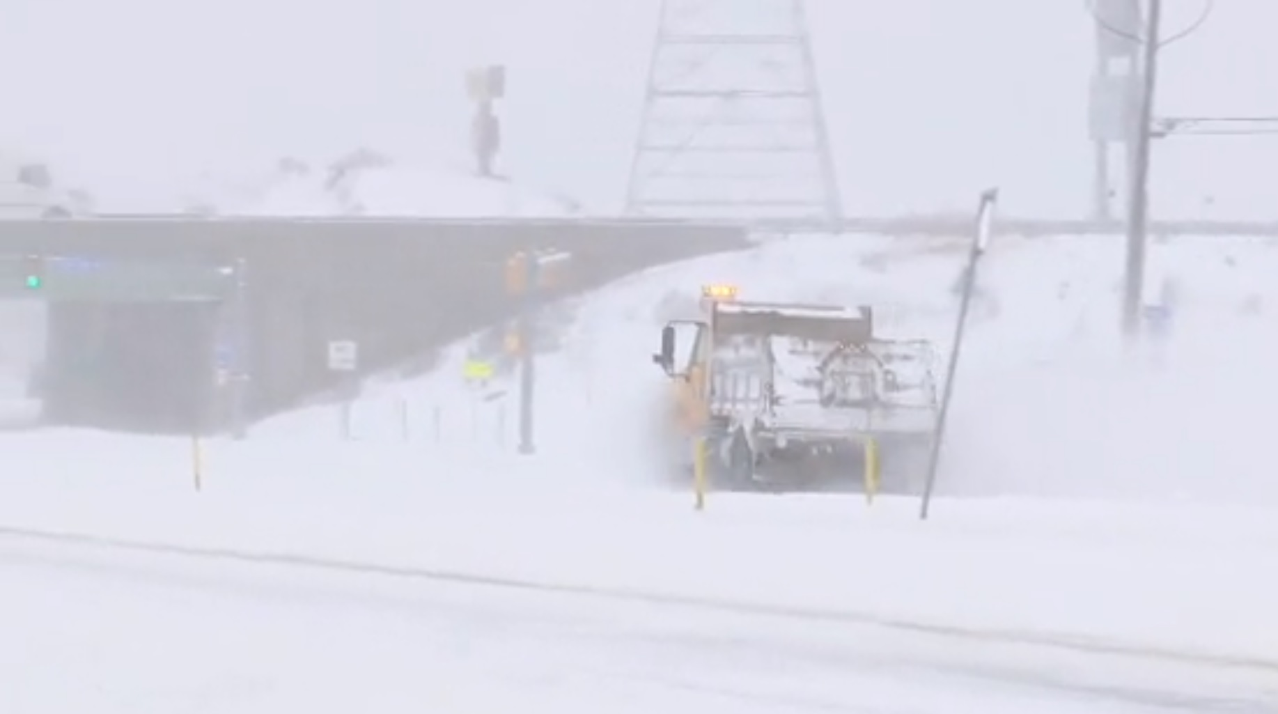 Record two-day snowfall covers Erie, Pennsylvania. (Image credit: WJET via CNN Newsource)<p></p>