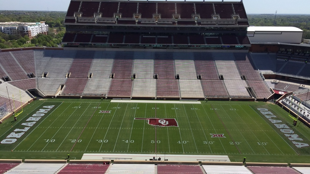 OU Stadium on Saturday, April 8, 2017 just before the spring game (Anthony West KOKH)    for web .jpg