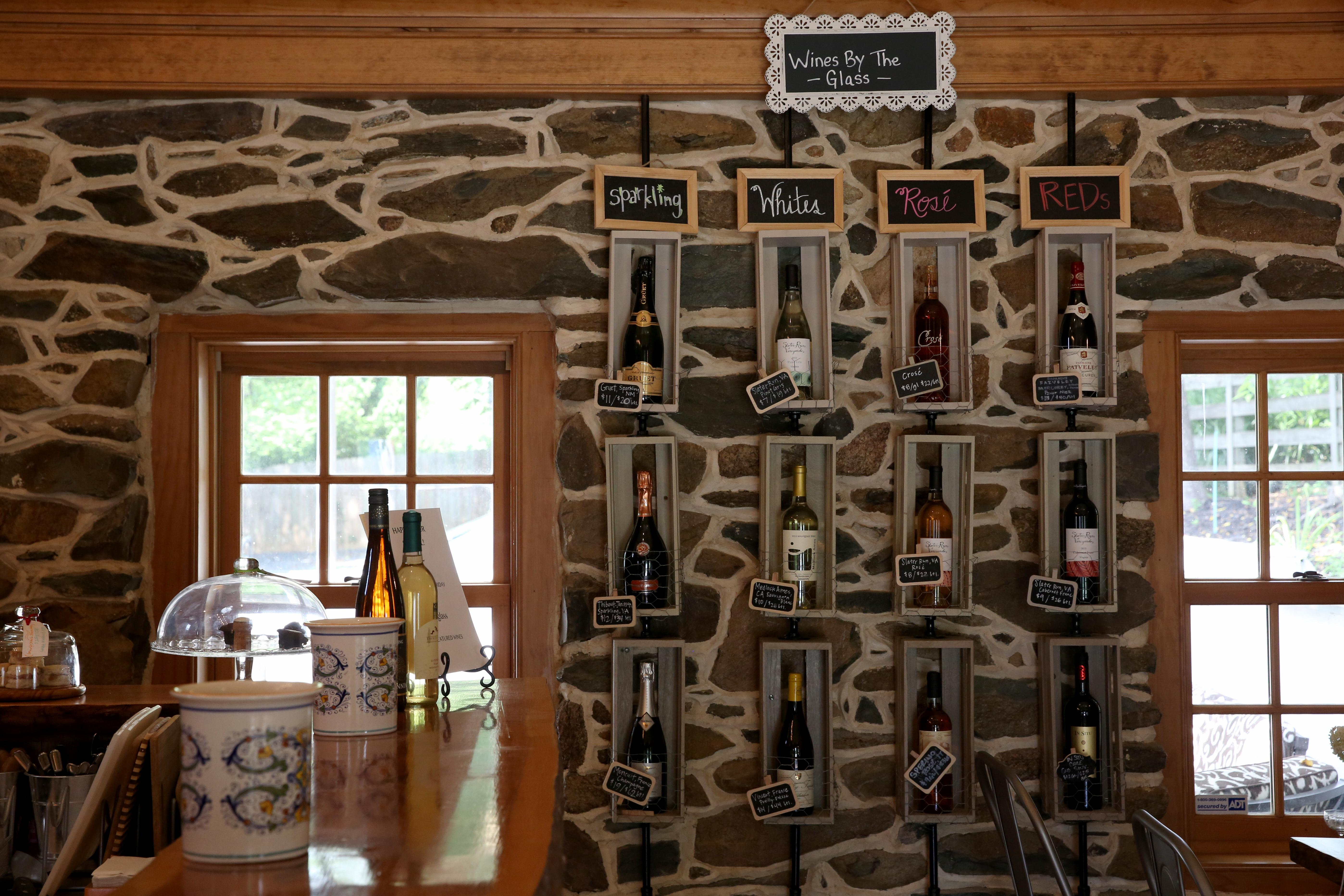 Slater Run Vineyards has only been around for three years, but it has an intimate tasting room in the heart of town. Their wine called 'Roots' has won awards, but many of their wines come from an old-world background. (Amanda Andrade-Rhoades/DC Refined)