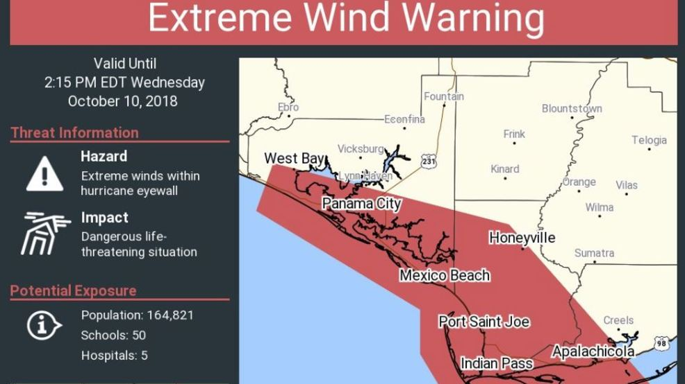 nws tallahassee issues first ever extreme wind warning ahead of