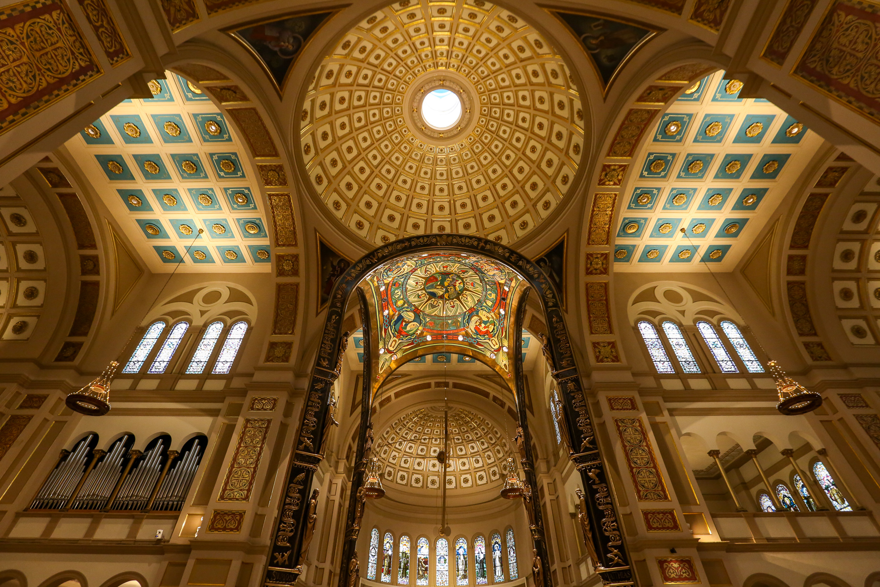 The Franciscan Monastery of the Holy Land in America was completed in 1899 and since then it's been a pilgrimage site and a place of worship for thousands of people. Still, the visitors that flow through its doors don't get to see every part of the sprawling church. (Amanda Andrade-Rhoades/DC Refined)<br>