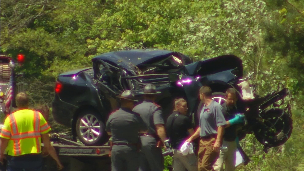 Truck And Car Crash On Route  In Rhode Island