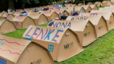 Photos: 100% recyclable cardboard tents aim to make festivals more eco-friendly