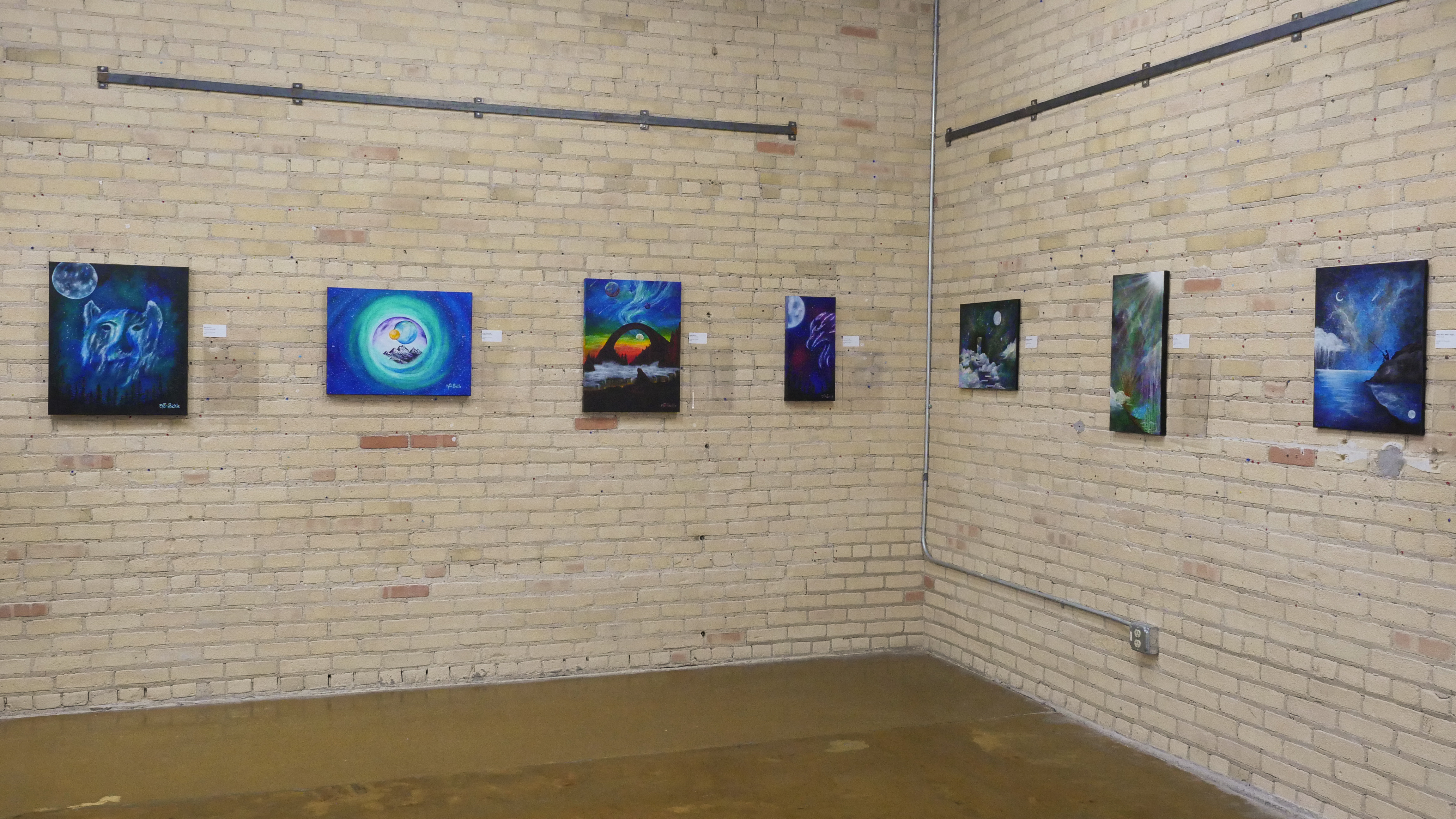 Mission to Space Exhibit at The Art Garage, Thurs. Jan 30, 2020 (WCWF/ Beni Petersen)