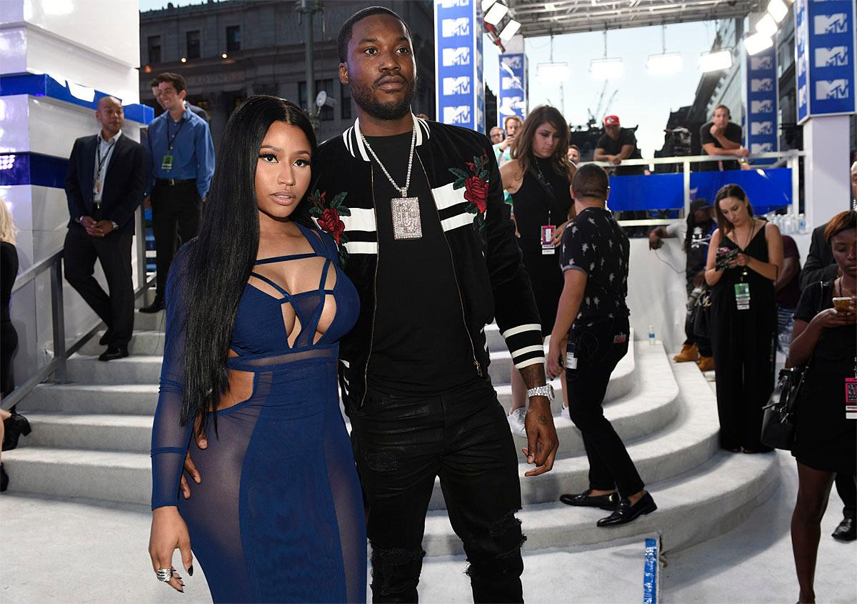 Nicki Minaj, left, and Meek Mill arrive at the MTV Video Music Awards at Madison Square Garden on Sunday, Aug. 28, 2016, in New York. (Photo by Chris Pizzello/Invision/AP)