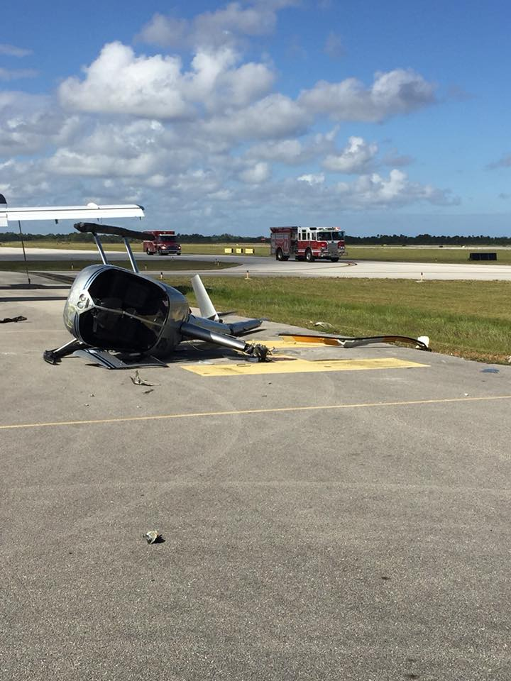 Two people walked away from a helicopter crash in Fort Pierce. (St. Lucie County Fire District)