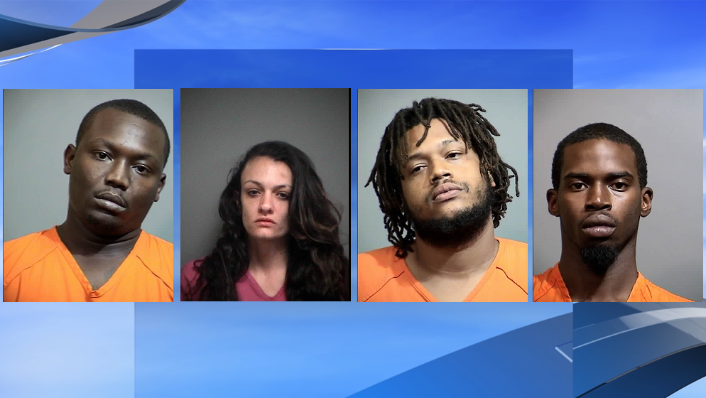 Four arrested on crack cocaine, meth charges following months-long investigation (Photos: Georgetown County Sheriff's Office; background: WPDE)