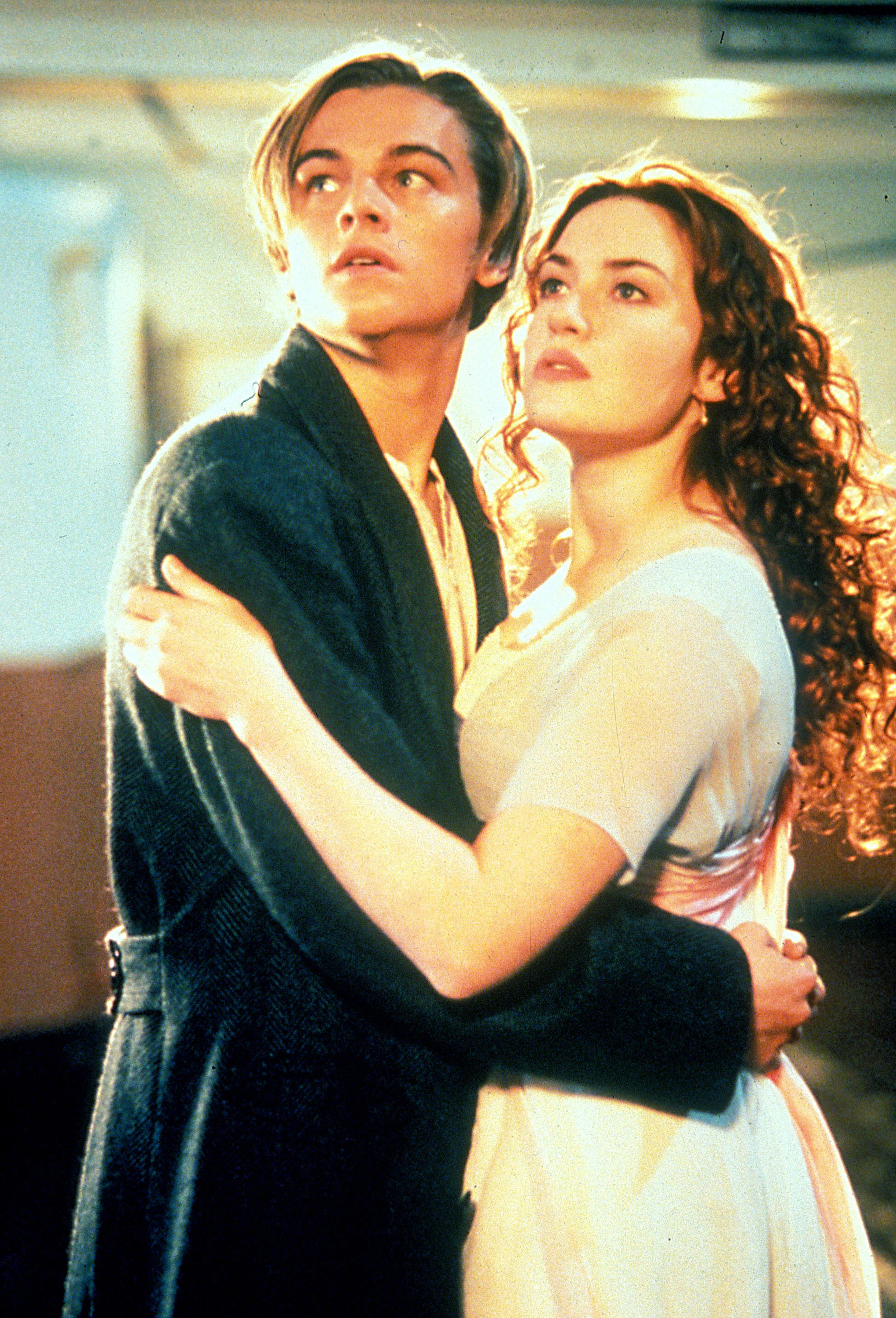 Leonardo DiCaprio and Kate Winslet                  as 'Jack Dawson' and 'Rose DeWitt Bukater' in the film 'Titanic'                  USA - 14.12.97                                    Featuring: Leonardo DiCaprio and Kate Winslet                  Where: United States                  When: 14 Dec 1997                  Credit: WENN.com                                    **WENN does not claim any ownership including but not limited to Copyright or License in the attached material. Fees charged by WENN are for WENN's services only, and do not, nor are they intended to, convey to the user any ownership of Copyright or License in the material. By publishing this material you expressly agree to indemnify and to hold WENN and its directors, shareholders and employees harmless from any loss, claims, damages, demands, expenses (including legal fees), or any causes of action or allegation against WENN arising out of or connected in any way with publication of the material.**