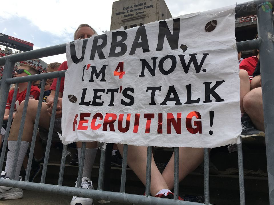 Urban recruiting sign