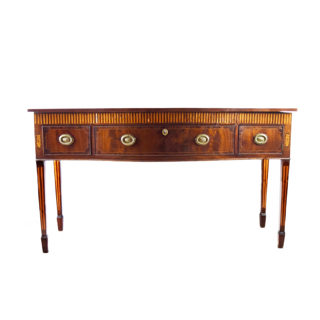 Circa 1800 Welsh Serpentine Front Serving Table in Mahogany and Yew / Image courtesy of Everything But The House // Published: 10.15.16