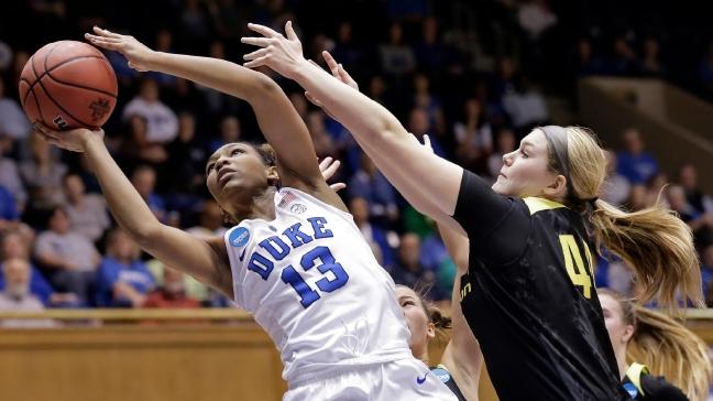 Sweet     Oregon women beat Duke