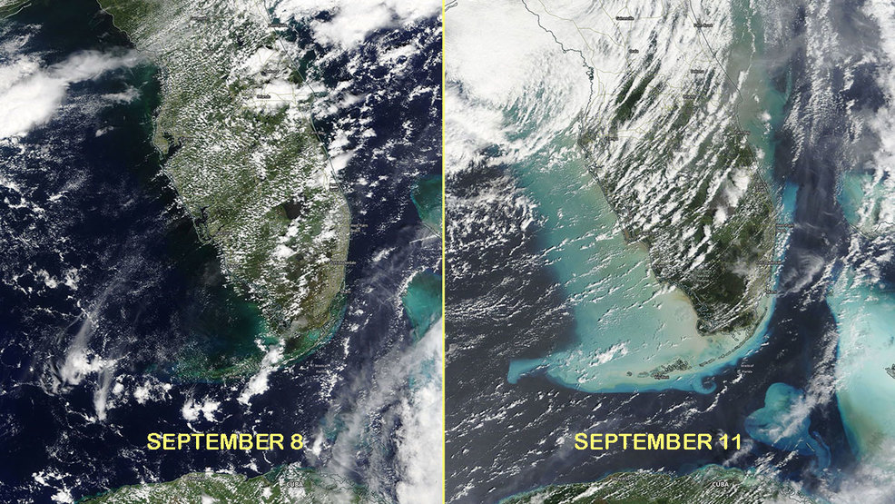 Satellite Imagery Shows How Hurricane Irma Left Its Mark On The - Satellite map of se us at night