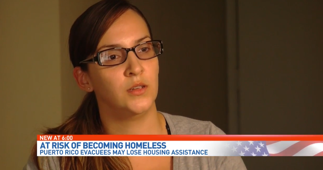 Puerto Rican families at risk of becoming homeless if voucher program ends. (WPEC)