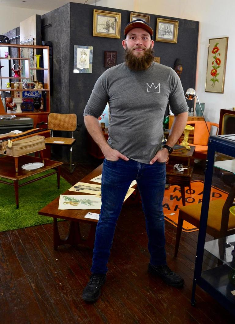 David Wenzel, owner of Wild Things Antiques / Image: Leah Zipperstein, Cincinnati Refined // Published: 1.18.18