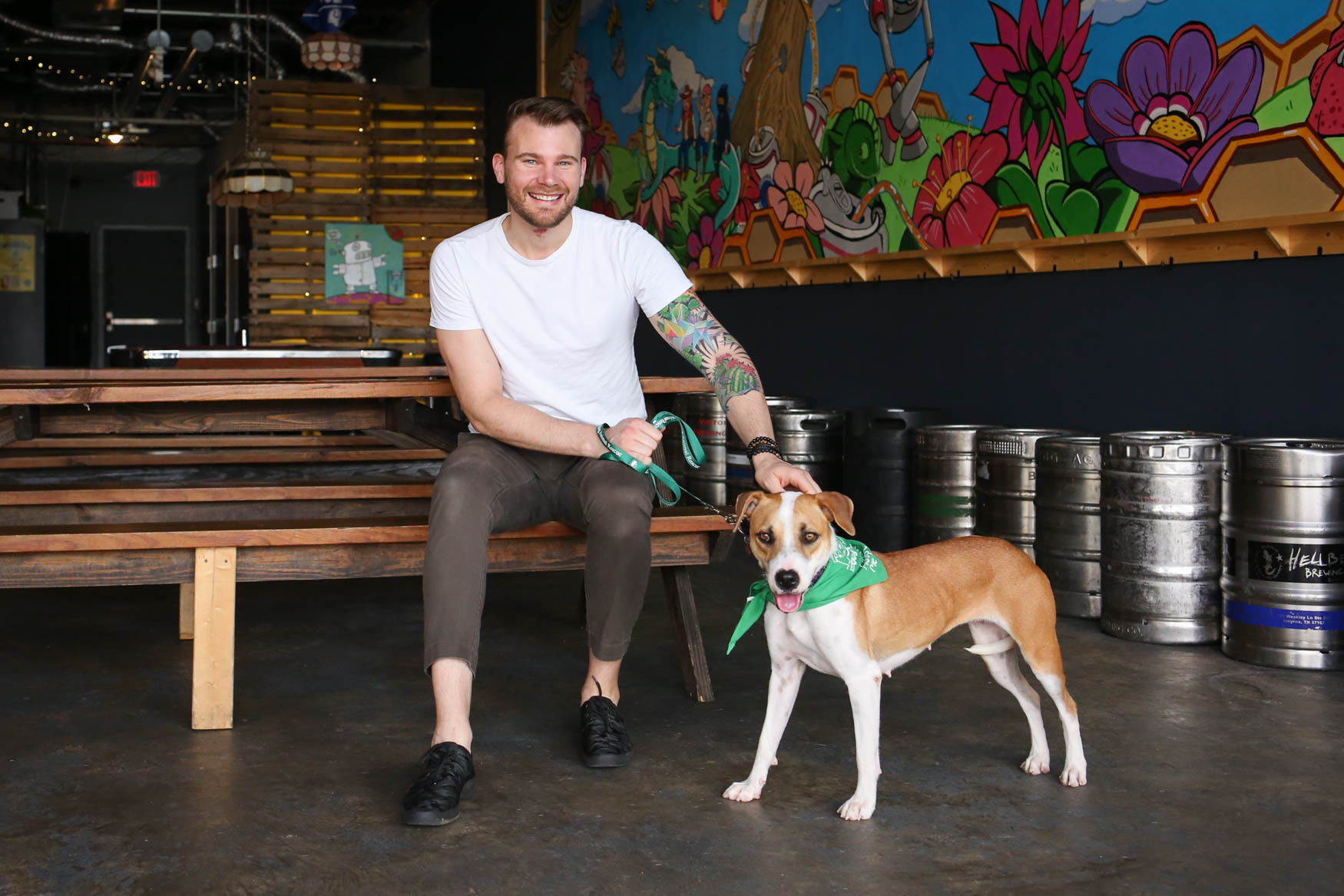 Meet Sadie and Matt, a 3-year-old Lab mix and a 32-year-old human respectively. Photo location: Midlands Beer Garden (Image: Amanda Andrade-Rhoades/ DC Refined)