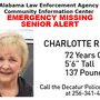 Missing senior alert cancelled for 72-year-old Decatur woman