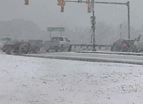 The winter weather that swept through the state on Thursday left many roads slippery and dangerous on Thursday, January 17, 2013.