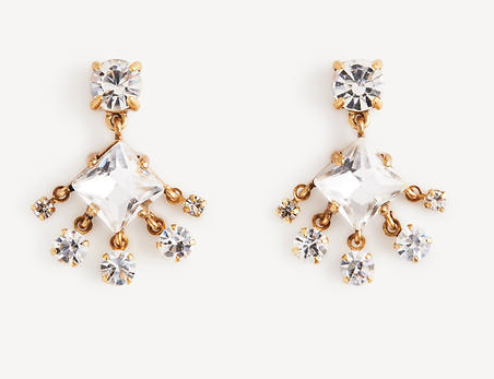 Ann Taylor Crystal Chandelier Earrings // Price: $39.50 // (Ann Taylor)
