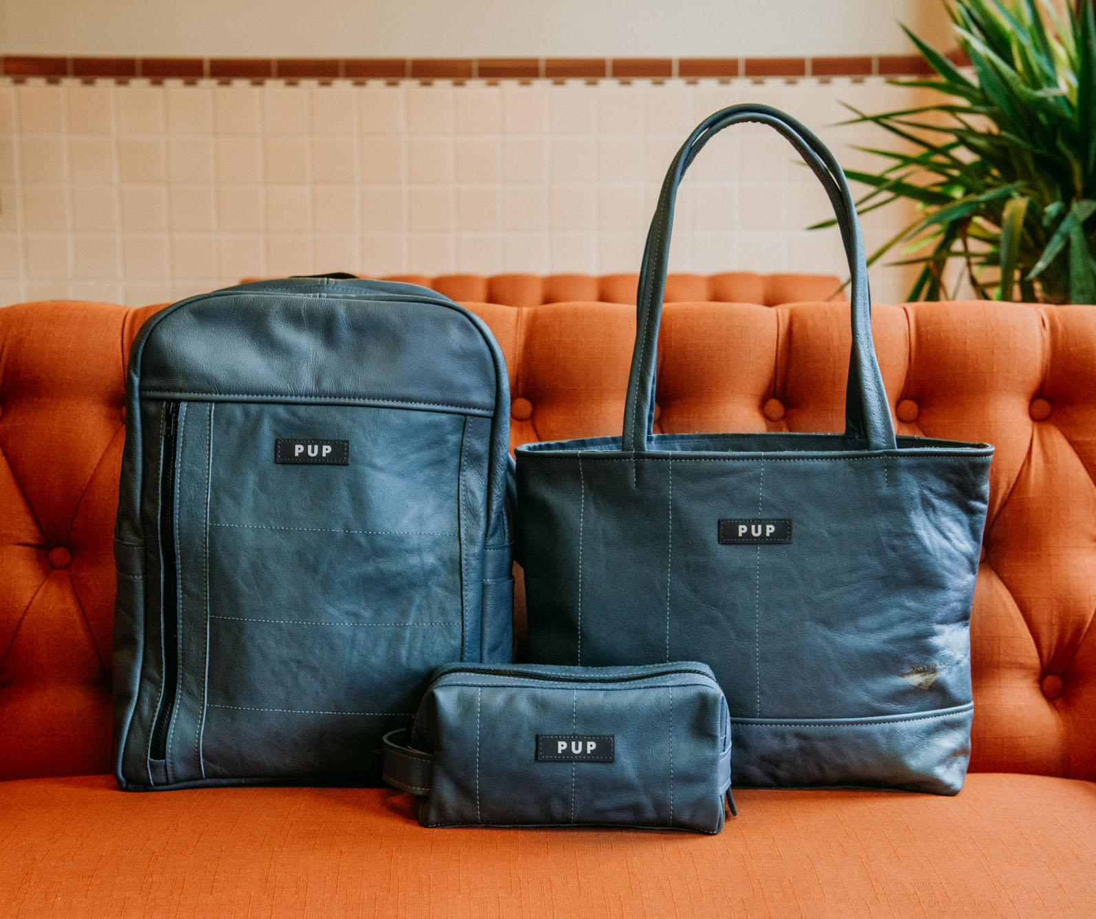 Amtrak has just announced a partnership with People for Urban Progress (PUP), to turn the leather seat covers from 20 Amtrak Acela Express train seats into luxury handbags. (Image: Courtesy Amtrak)