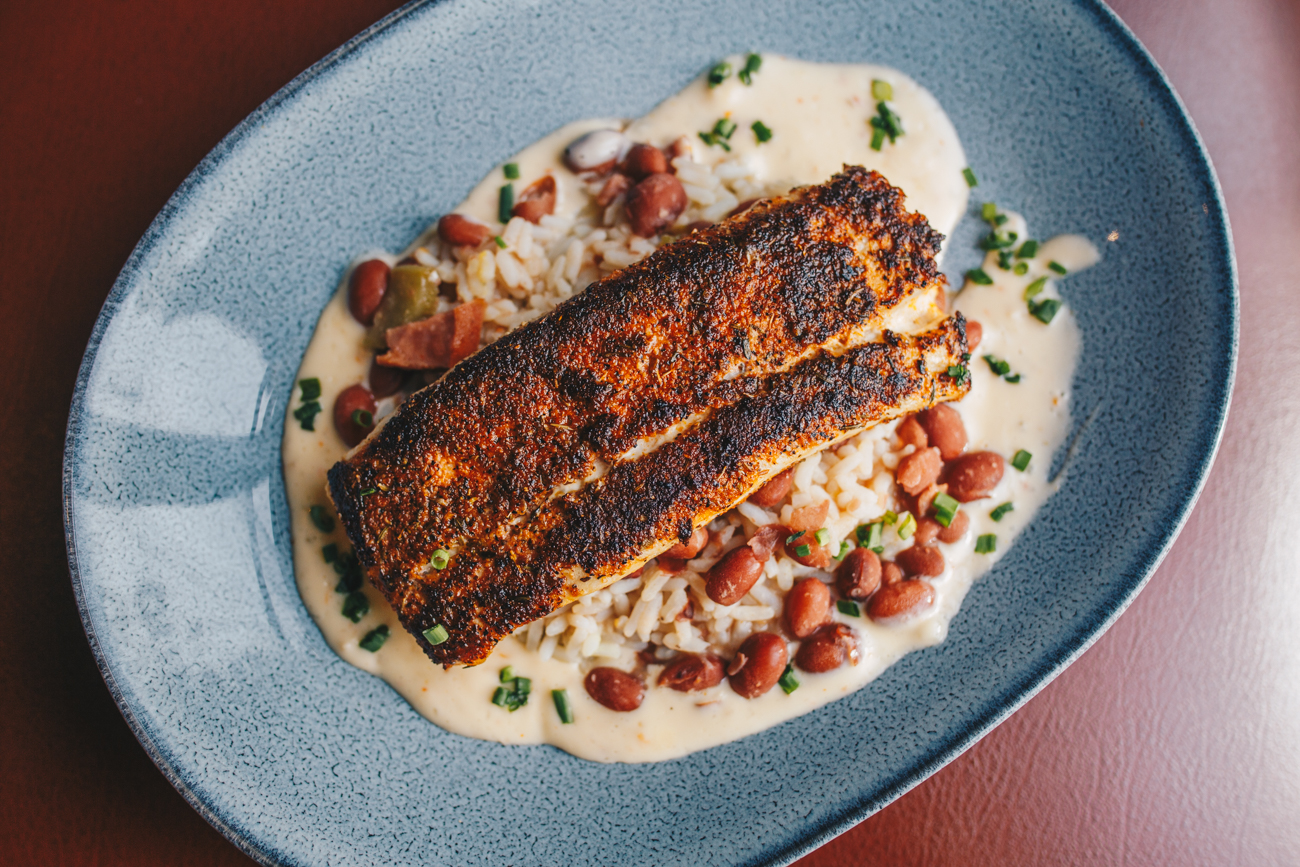 Fresh Catch: blackened mahi mahi with red beans, rice, and a chili beurre blanc sauce / Image: Catherine Viox // Published: 1.14.19