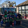 Winchester Elementary students ride fire truck to school