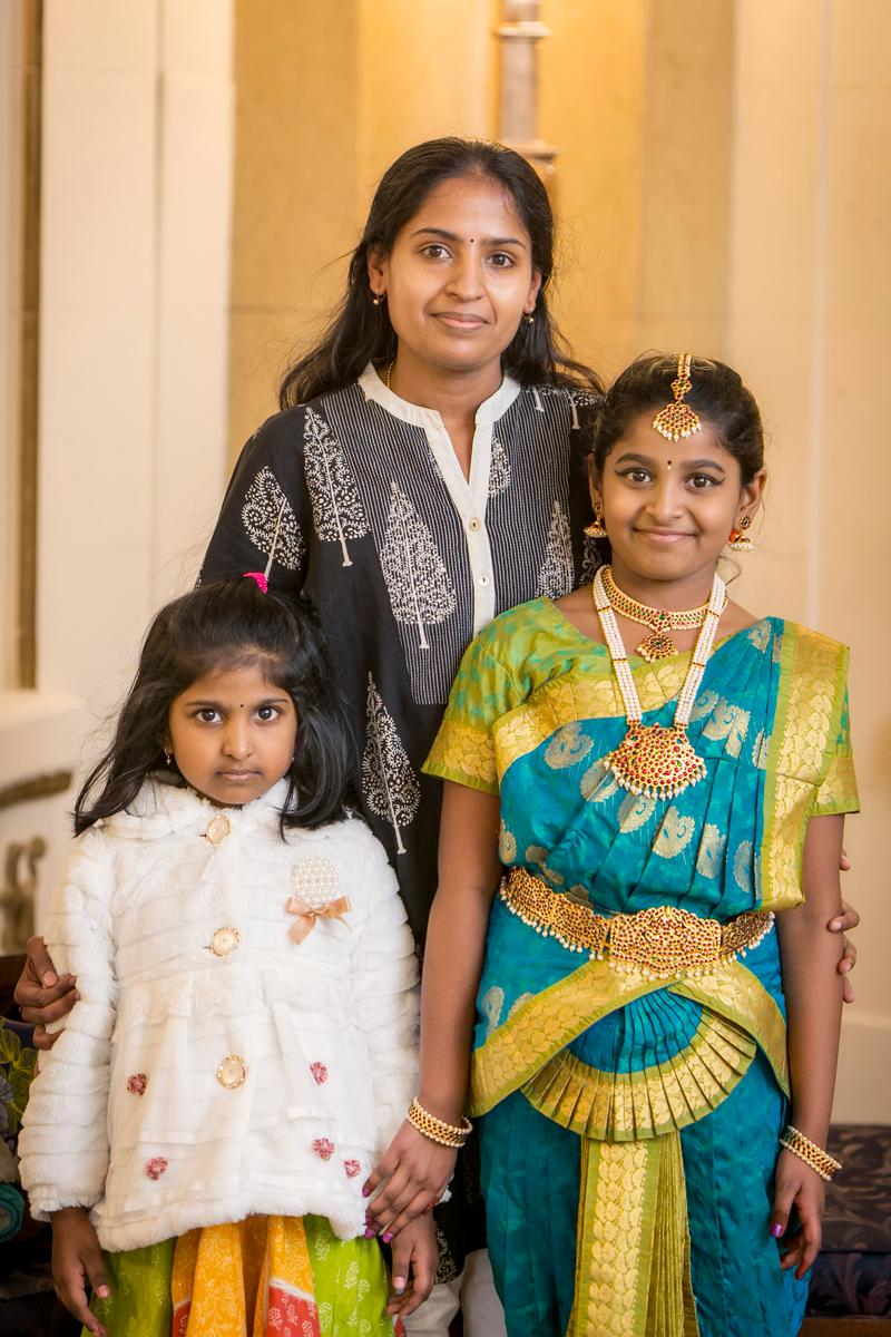 Aavadhye Kumar, Kavitha Kumar, and Ananya Kumar / Image: Mike Bresnen Photography // Published: 2.20.17