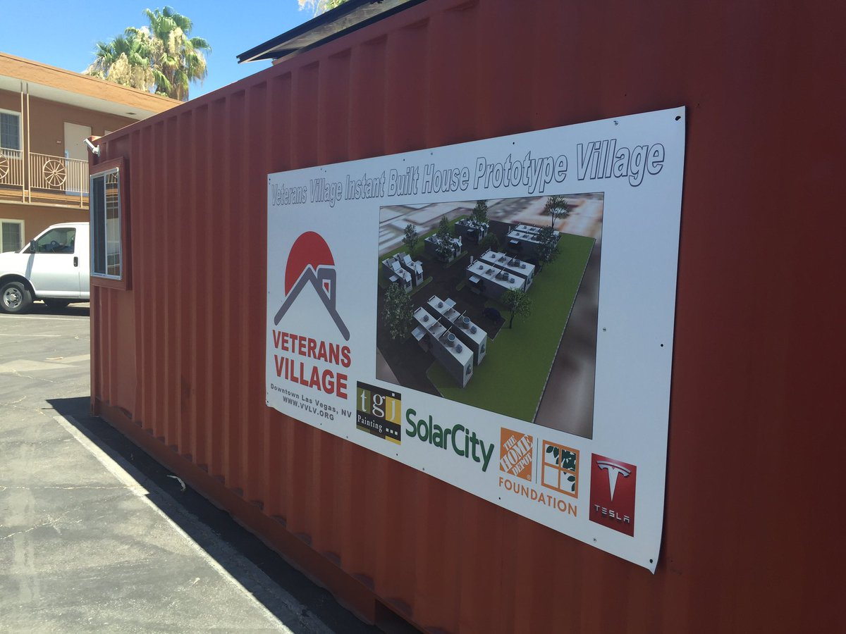 No hero should be homeless: Could shipping containers help solve our community's homeless veteran problem? 7/4/2016 (Kelsey Thomas/KSNV)