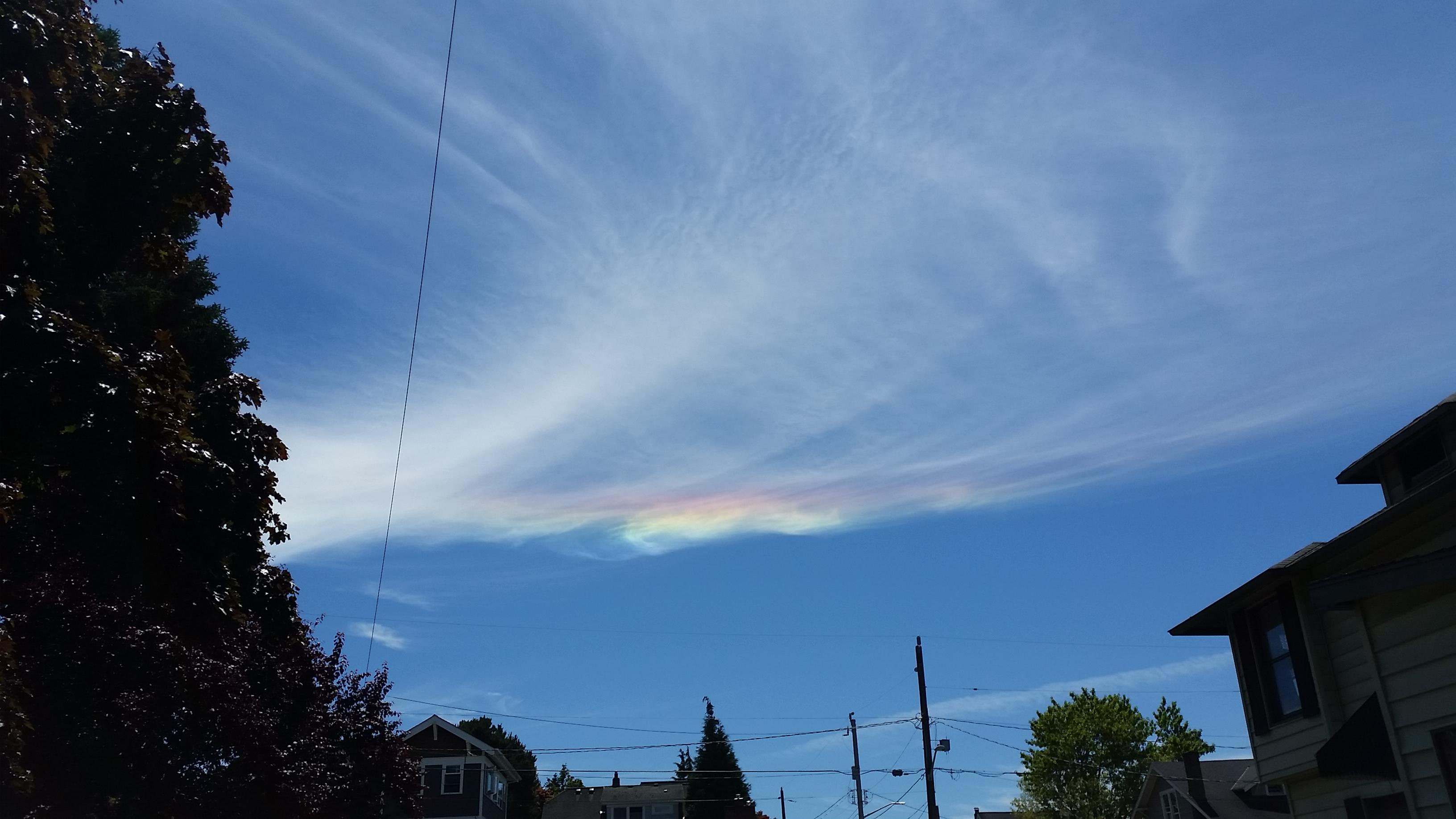 Quot Circumhorizontal Arcs Quot Paint Clouds In The Colors Of The