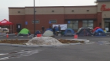 Customers camp out ahead of Chick-fil-A opening in Seekonk