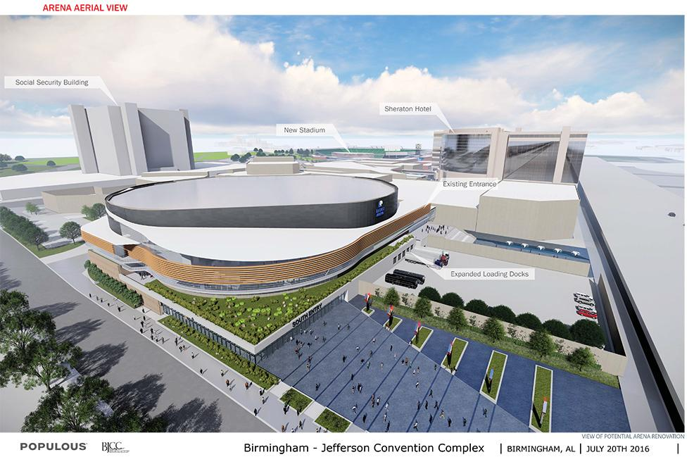 45,000 seat open air NCAA football stadium to host UAB and multiple bowl games as well as the Magic City Classic. Also capable of accommodating 10,000 additional temporary seats. (BJCC)