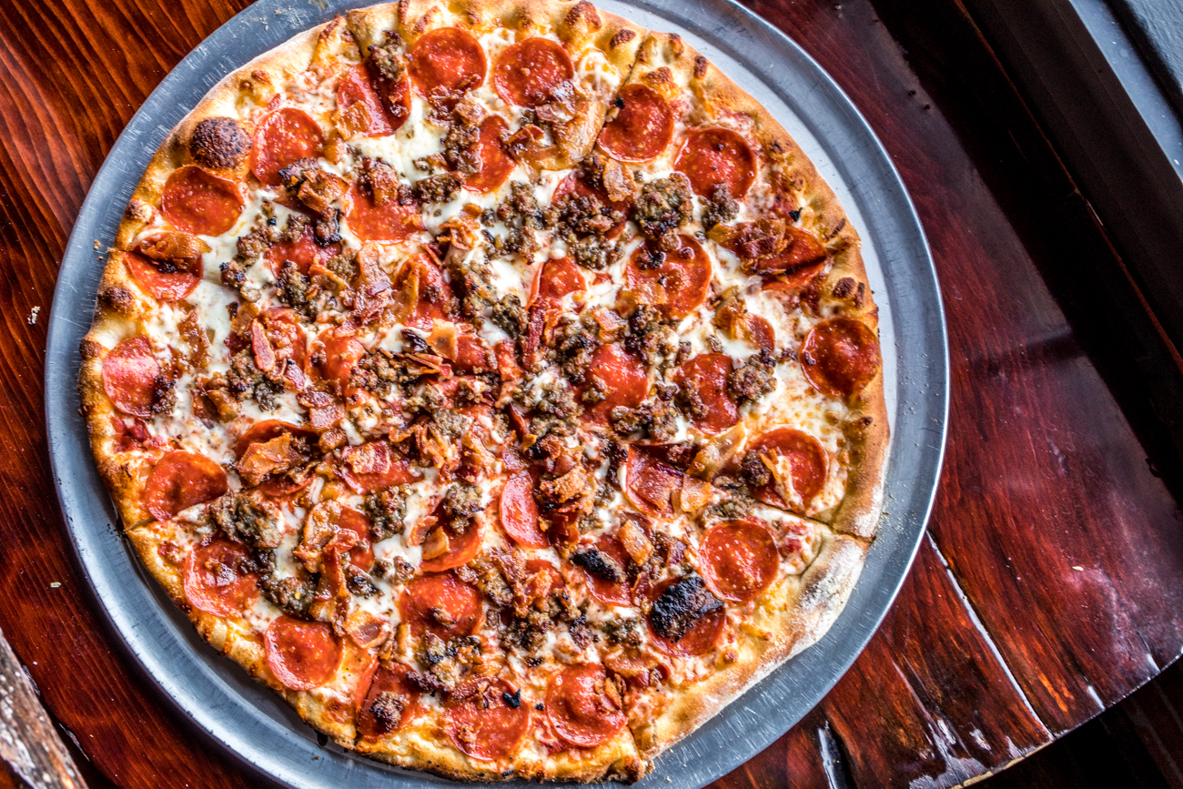 Meat Lover's Pizza: pepperoni, sausage, fresh-cut bacon, and meatballs / Image: Catherine Viox{ }// Published: 2.3.20