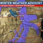 Expect Winter weather in the mountains on Tuesday and Wednesday